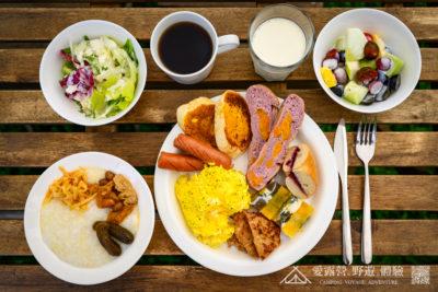豪華露營 豪華饗宴 早餐