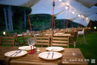 豪華露營 豪華饗宴 晚餐佈置