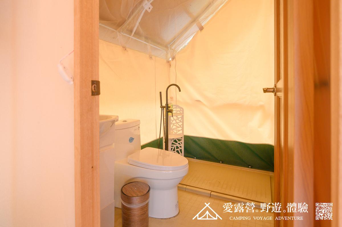 豪華露營 帳棚內衛浴